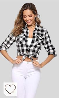 Camisas Otoño Blusas Cuadros Mujer Amazon Moda Mujer en Colores del Arcoíris. Aibrou Camisa de Cuadros para Mujer,Algodón Blusas Franela de Manga Larga Casual Clásica con Botones,Camisas a Cuadras para Primavera Otoño Invierno
