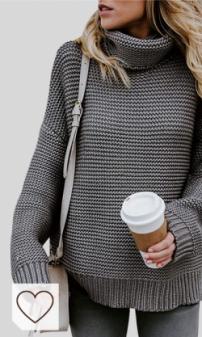 Jerseys de Punto Mujer Moda Amazon Mujer en Colores del Arcoíris. Jerseys de Punto Mujer Jersey Punto Cuello Vuelto Mujer Oversize Grueso Sueter Señora Gordos Ancho Sweaters Sweater Tejido Jerséis de Mujer Suéter Jerséy Pullover Sueteres Tejidos Invierno