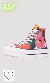 Zapatillas Converse Mujer Amazon Moda Mujer en Colores del Arcoíris. CONVERSE - CTAS Lift HI 563975C - Strawberry Jam