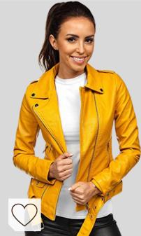 Chaquetas Cuero Amarilla Mujer Amazon Moda Mujer en Colores del Arcoíris. BOLF Mujer Chaqueta De Cuero Ecológico Cierre De Cremallera Chaqueta de Piel Cazadora Ropa de Abrigo Estilo Casual D4D