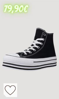 Zapatillas Converse Mujer Amazon Moda Mujer.CTAS Platform Layer HI Zapatos Deportivos Mujer Negro 564486C