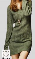 Vestido Punto Otoño Invierno Mujer Moda Amazon Mujer en Colores del Arcoíris. Vestido De Punto Mujer Elegantes Vintage Otoño Invierno Jersey Largo Manga Larga Mode De Marca V Cuello Casuales Grueso Slim Fit Termica Color Sólido Suéter De Punto Sweater Jerseys