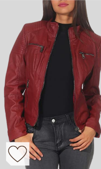 Chaqueta Cuero Roja Mujer Amazon Moda Mujer en Colores del Arcoíris. Malito Mujer Chaqueta Cuero Sintético Biker Chaqueta Saco Blazer 5179