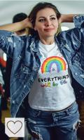 Camisetas Arcoíris Moda Mujer Amazon Rainbow. lepni.me Camisetas de Manga Larga para Mujer Todo Estará Bien Andrà Tutto Bene Arcoiris de la Esperanza