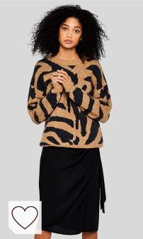 Jersey Animal Print Mujer Amazon Moda Mujer en Colores del Arcoíris. Marca Amazon - find. Jersey Tigre Mujer