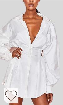 Vestido Camisero Mujer Amazon Moda Mujer. Vestido Camisero para Mujer Cuello en V Profundo Manga Larga Camisa Sexy Vestido de otoño con Botones en Color Liso para Citas Fiesta Club
