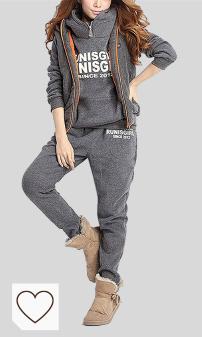 Chándal Mujer Amazon Moda Mujer en Colores del Arcoíris. BUOYDM 3piezas Chándales para Mujer Conjuntos Deportivos Hoodie Sweatshirt con Capucha + Chaleco Chaqueta + Pantalones para Otoño e Invierno