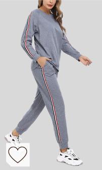 Chándal gris Mujer Amazon Moda Mujer en Colores del Arcoíris. Pijama Mujer Invierno Cómodo Algodón de Manga Larga Suave Ropa de Dormir