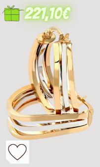 Mejores regalos navidad amazon navidad regalos mujer en colores del arcoíris. Citerna - Pendientes para Mujer de Oro Bicolor 9K