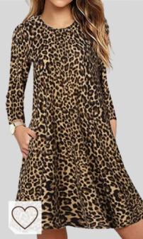 Vestido Animal Print Mujer Amazon Moda Mujer en Colores del Arcoíris. Amazon Fashion. CNFIO Mujer Camisa Vestido Cuello V Manga Larga Exterior Tops Moda Blusas