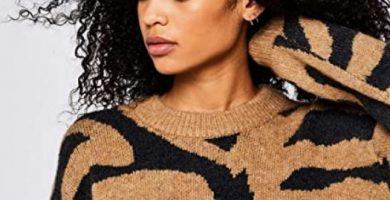 Jersey Animal Print Marrón Mujer Amazon Moda Mujer en Colores del Arcoíris. Amazon Fashion. Marca Amazon - find. Jersey Tigre Mujer
