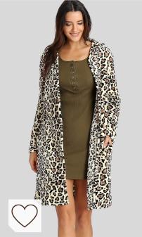 Abrigo Animal Print Mujer Amazon Moda Mujer en Colores del Arcoiris. LUCKYCAT Las Mujeres de Invierno Moda Casual Estampado de Leopardo Sexy Warm New Windbreaker Cardigan Abrigo Largo