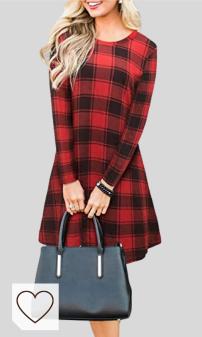 Vestido Cuadros Mujer Amazon Moda Mujer en Colores del Arcoíris. Blooming Jelly Vestido a Cuadros de Manga Larga para Mujer Swing Jumper Winter T Shirt Vestidos para Mujer
