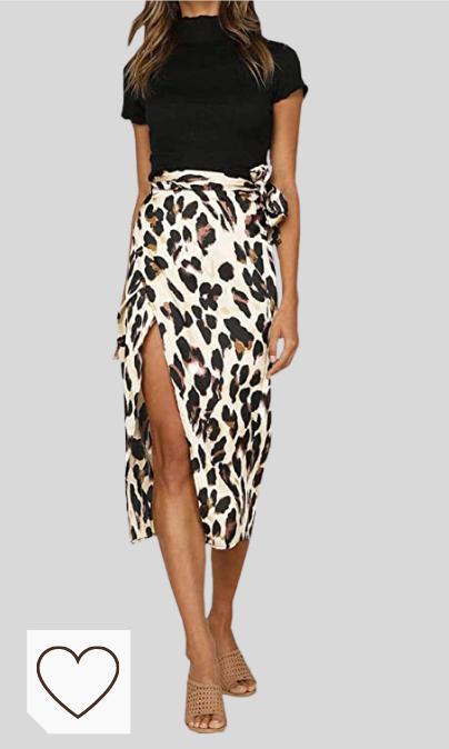Falda Animal Print Mujer Amazon Moda Mujer en Colores del Arcoíris. Amazon Fashion. Falda Mujer Falda Larga Alta Cintura con Aberturas para Mujer Vestido Sexy con Estampado de Leopardo