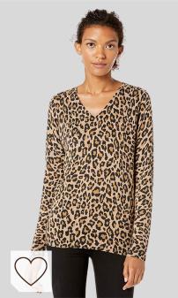 Camiseta Animal Print Mujer Amazon Moda Mujer en Colores del Arcoíris. Amazon Fashion. Amazon Essentials Lightweight V-Neck Sweater Mujer