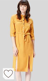 Vestido Camisero Mujer Amazon Moda Mujer en Colores del Arcoíris. Marca Amazon - find. Vestido Camisero para Mujer