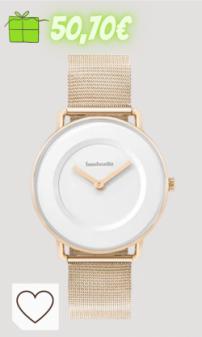Reloj Mujer Amazon relojes mujer en colores del arcoíris. Mia 34 Juego de dúo acolchado y malla oro rosa blanco