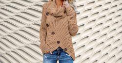 Sudadera y jersey mujer de punto casual Amazon jersey de punto mujer estilo casual