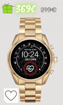 Relojes Mujer Amazon Relojes Mujer en Colores del Arcoíris. Micheal Kors Connected Smartwatch con tecnología Wear OS de Google, altavoz, frecuencia cardíaca, GPS, NFC y notificaciones smartwatch