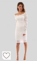 Vestido blanco mujer moda amazon vestidos mujer color blanc. iMixCity Vestido de Fiesta Encaje Manga Larga sin Hombros Lápiz Mujer Bodycon