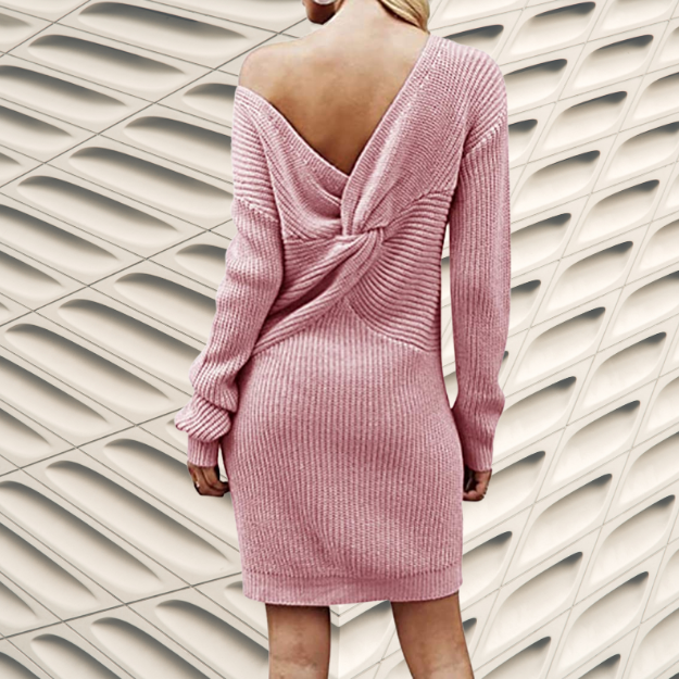 Rebajas Moda Mujer Amazon Moda Mujer Rebajas en colores del Arcoíris. Auxo Vestido a Punto Cuello Alto Suéter Larga Elegante Clásico para Mujer Jerséy para Otoño Invierno Fiesta Cóctel Noche Fiesta Cóctel Noche