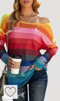 Sudadera Mujer Arcoíris Amazon sudadera mujer arcoiris. Sudadera de manga larga para mujer con diseño de rayas arcoíris y colores