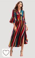 Vestido Mujer Arcoiris Amazon vestido arcoiris. Vestido Mujer Elegante Largo Primavera Verano Moda Vintage 3/4 Manga Rayas Arcoiris Vestidos de Cóctel Fiesta Moda Camisetas Blusa Vestidos