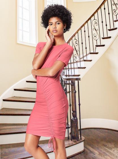 Marca Amazon - find. Vestido Rosa Ajustable para Mujer