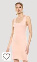 Marca Amazon - Sonia Minivestido ajustado color rosa pastel sin mangas y con escote redondo por The Drop