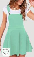 Vestido mujer de color verde menta. YOINS - Falda de tirantes para mujer, estilo casual, de cintura alta, acampanada, lisa, mini falda de patinaje