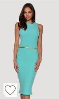 Vestido verde menta para mujer. Tendencias colores de moda primavera verano 2021. Vestry - Vestido - para mujer