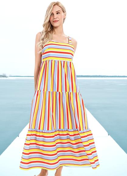Vestido a rayas multicolor. APART Fashion Sommerkleid Vestido, Multicolor, Talla única para Mujer