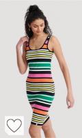 Vestido a Rayas de Colores. Superdry Miami Bodycon Dress Vestido para Mujer
