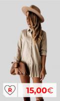 Vestido camisero barato. Vestido de camisa por menos de 20 euros. Vestido De Camisa De Color Sólido para Mujer, Vestido Plisado De Manga Larga con Solapa, Minivestido De Un Solo Pecho para Mujer, Ropa De Una Pieza De Primavera para Mujer