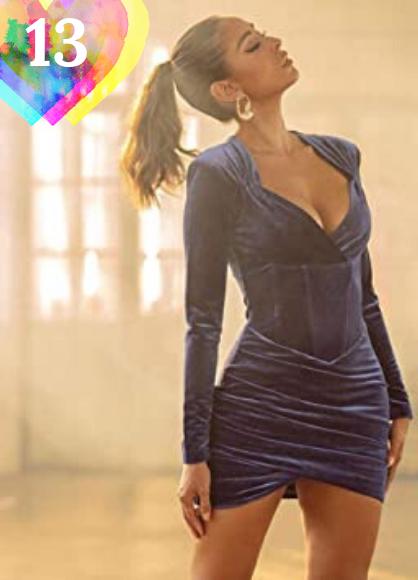 Vestido de fiesta corto Vestido Elegante De Terciopelo para Club De Fiesta, Vestido Ajustado A La Moda para Mujer, con Cuello En V, Vestidos Sexis De Terciopelo para Mujer, Atuendos Casuales Sólidos