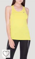 Camiseta Asics Amarilla para mujer. Ropa deportiva Asics para mujer. ASICS Loose Strappy Women's Chaleco