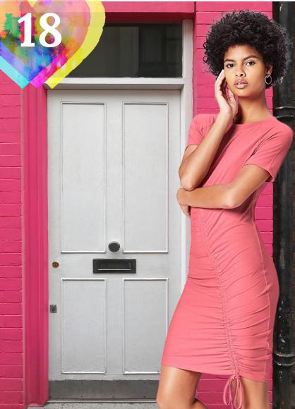 Vestido corto Marca Amazon - find. Vestido Ajustable para Mujer