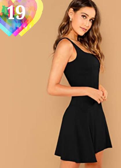 Vestido corto negro. SOLY HUX Mujer Vestido Ajustado Corto Verano Sin Mangas de Fiesta Corto Ajustado de Tirante