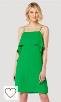 Vestido corto mujer de color verde. Marca Amazon - TRUTH & FABLE Vestido Mini Mujer con Volante