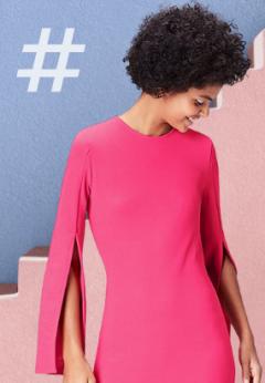Tendencias Moda Mujer Primavera-Verano 2021. Vestido Fúcsia nueva colección Amazon Moda Mujer