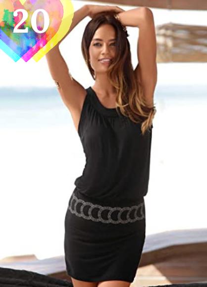 Vestido corto negro. Logobeing Ropa de Mujer Vestidos Falda Chaleco Vestido Mini Playa Sin Mangas con Estampado Retro Camisetas Verano
