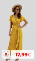 Vestido Mujer por menos de 20 euros. Vestidos primavera baratos. Vestido Mujer Bohemio Largo Verano Playa Fiesta Floral/Polka Dot Maxi Vestidos Cóctel Falda Larga con Cinturón