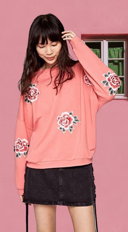 Sudadera Mujer Pepe Jeans Rose Sudadera para Mujer