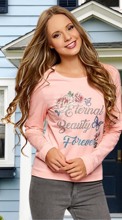Suéter Flores. oodji Ultra Mujer Suéter de Algodón con Estampado