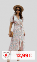 Vestido barato mujer. Vestido por menos de 20 euros mujer. Vestidos baratos Amazon Moda. Vestido Mujer Bohemio Largo Verano Playa Fiesta Floral/Polka Dot Maxi Vestidos Cóctel Falda Larga con Cinturón