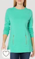 Sudadera mujer color verde menta. Tendencias colores de moda primavera verano 2021. Charles River Apparel Sudadera para Mujer