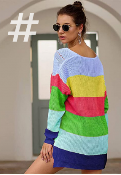 Tendencias Primavera Verano 2021 moda mujer amazon fashion. PROTAURI Cárdigan suéter para Mujer - Blusas de Punto de Manga Larga con Frente Abierto y Abrigo de impresión de Punto de Onda