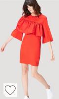 Vestido corto color naranja Marca Amazon - find. Vestido de Fiesta para Mujer