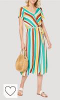 Vestidos de rayas de colores. Springfield Vestido de Fiesta para Mujer