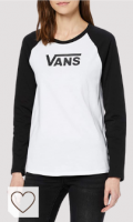 Camiseta Vans manga larga para mujer. Vans Flying V LS Raglan Camisa Manga Larga para Mujer